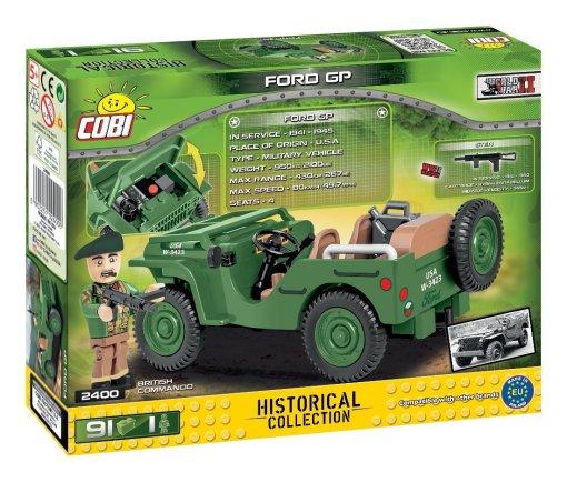 COBI FORD GP Jeep Set (2400) Box detail