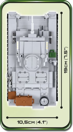 COBI PANZER III Ausf. E Tank Set (2523) Length