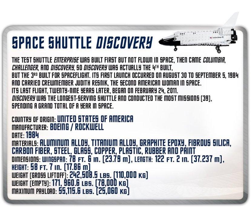 COBI Space Shuttle Discovery (2107A) Info