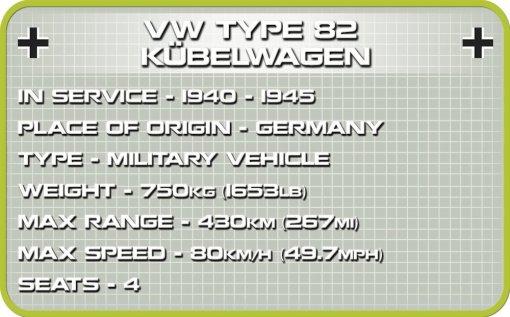 COBI Type 82 Kubelwagen Set (2402) Specs