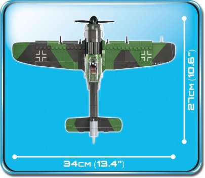 COBI Focke Wulf FW 190 Fighter Set (5704) Scale