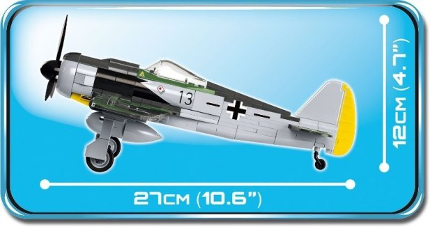 COBI Focke Wulf FW 190 Fighter Set (5704) Size