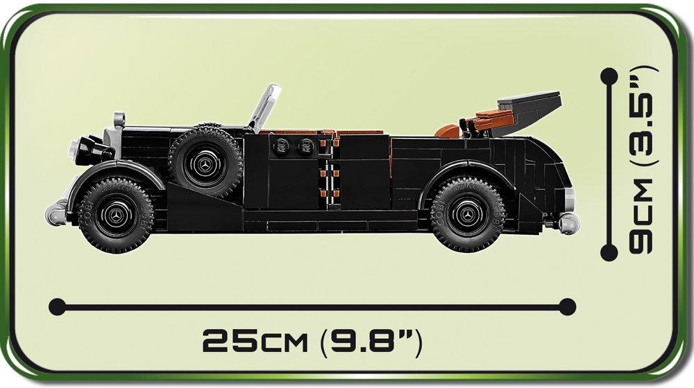 COBI 1938 Mercedes 770 Staff Car Set (2407) Length