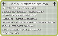 COBI 1939 Mercedes G4 Set (2409) Specs