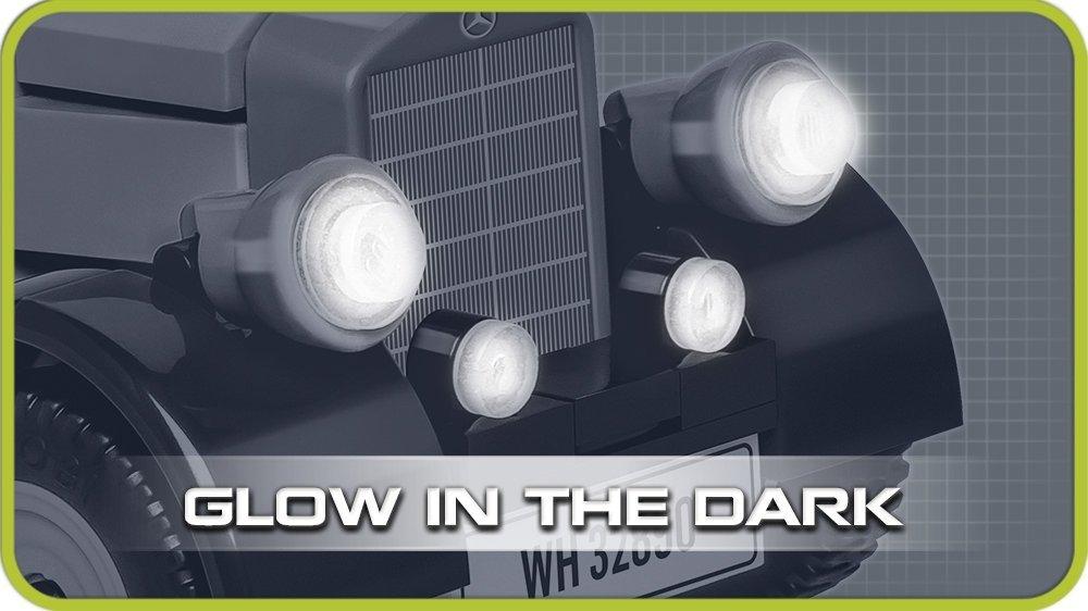 COBI 1939 Mercedes G4 Set (2409) headlights