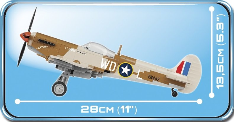 COBI 5546 Spitfire Size