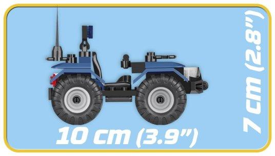COBI ATV Police Patrol Set (1547) Size