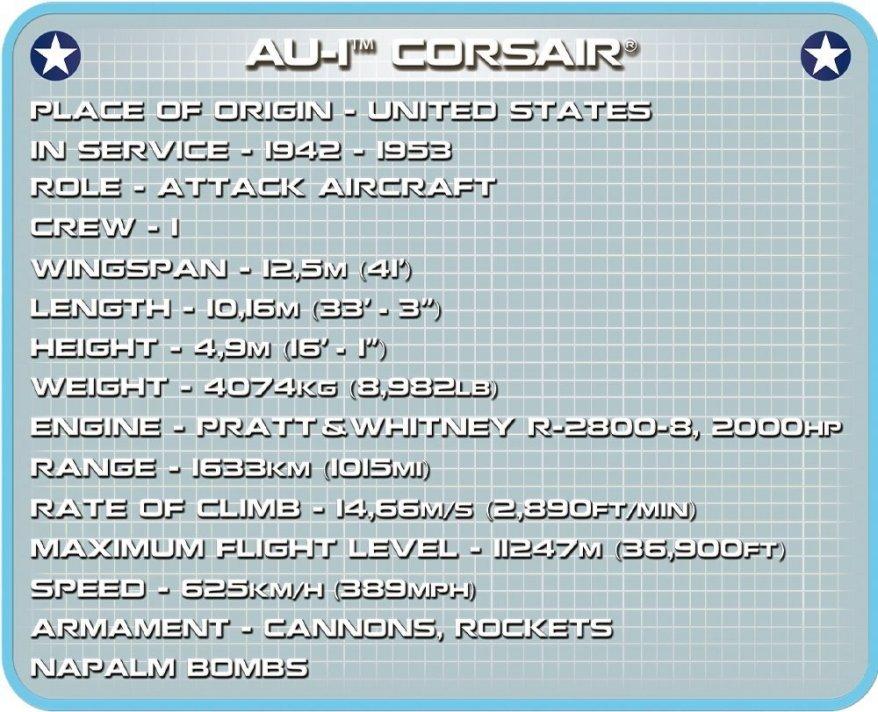 COBI AU-1 Corsair Set (2415) Specs