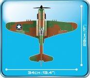COBI CURTISS P-40E WARHAWK Set (5706) Size