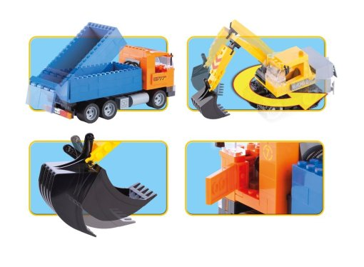 COBI Dump Truck & Excavator Set (1667) Features