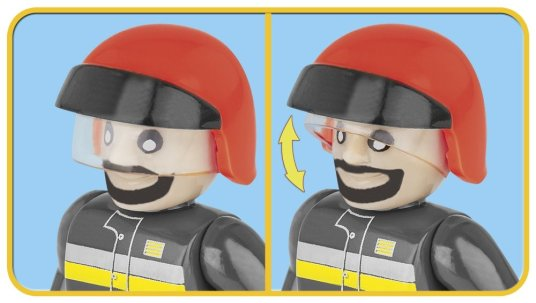 COBI Fire Patrol Unit Set (1444) Fireman
