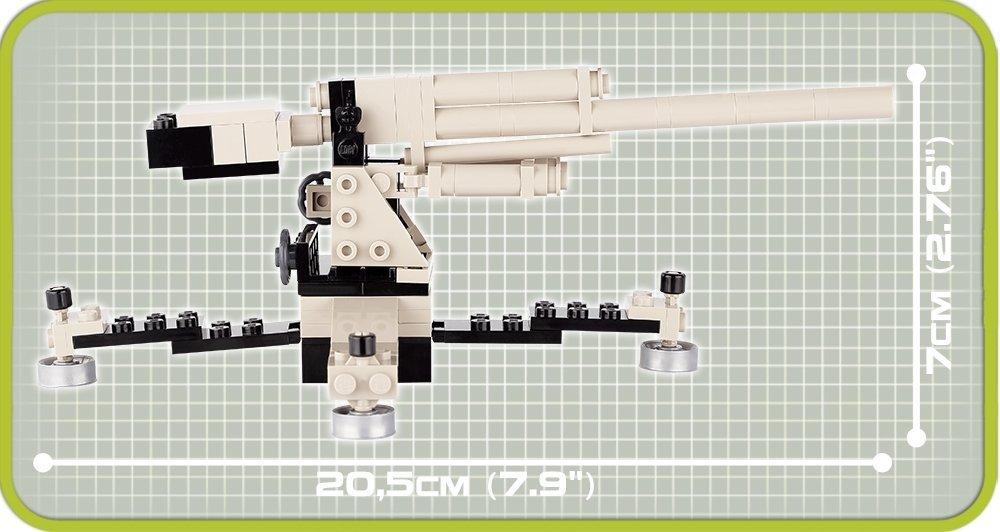 COBI Flack 36/37 8.8 CM Set (2367) Length