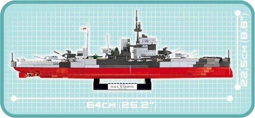 COBI HMS Warspite Battleship (4820) Size