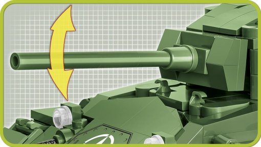 COBI M24 Chaffee Tank Set (2543) Gun