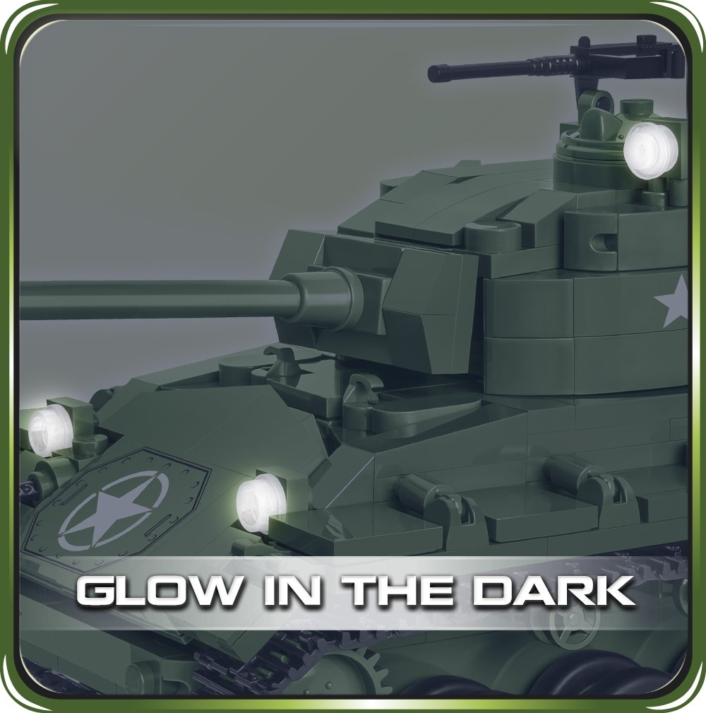 COBI M24 Chaffee Tank Set (2543) Lights