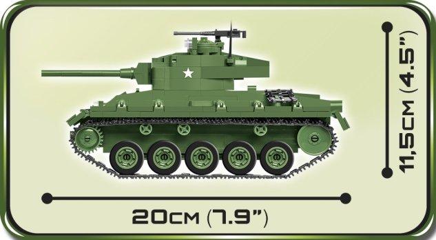 COBI M24 Chaffee Tank Set (2543) Size