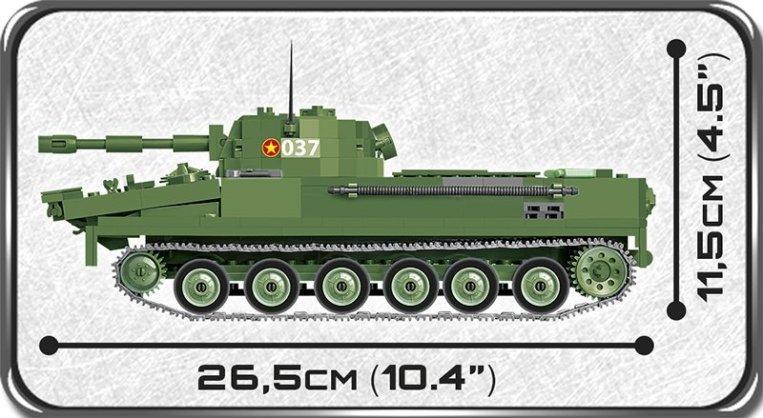 COBI PT-76 Tank Set (2235) Size