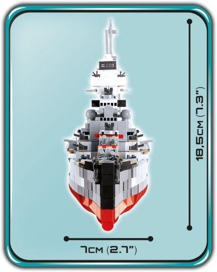 COBI Prince Eugen Heavy Cruiser Set (4823) Size