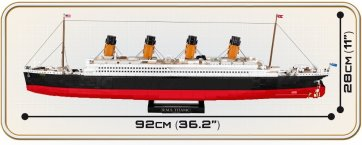 COBI R.M.S Titanic Set (1916) Length