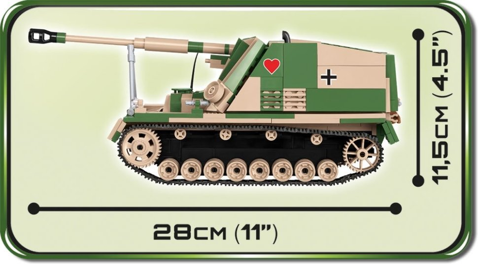 COBI SD.KFZ NASHORN Set (2517) lenth and size
