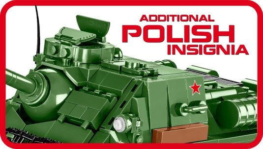 COBI polish SU-100 Tank Destroyer (2541)