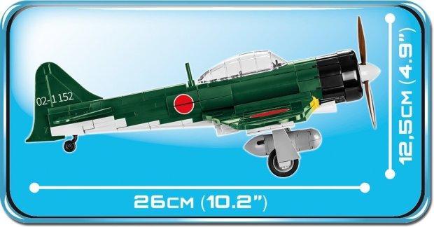 Cobi MITSUBISHI A6M5 ZERO M Set (5712) Length