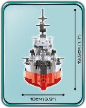 How big is COBI hms warspite
