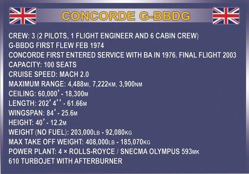 The COBI Concorde Set (1917) Specs