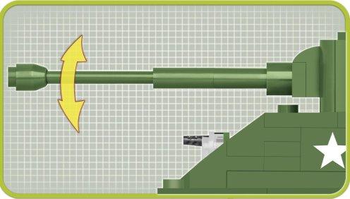 COBI 148 M4A3E8 Sherman (2705) Barrel