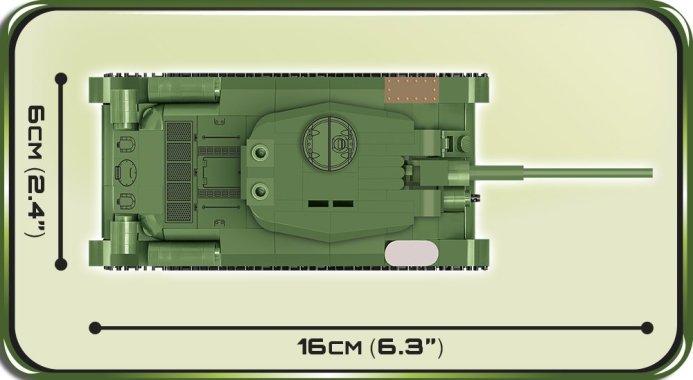 COBI 148 Scale T34 Tank (2702) Size