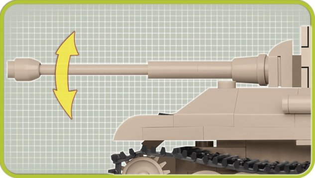 The COBI 148 Panzer V Panther (2704) Barrel