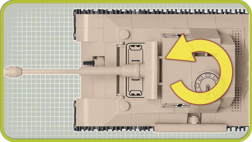 The COBI 148 Panzer V Panther (2704) Turret