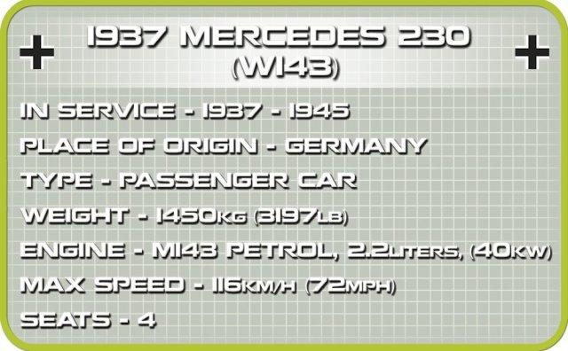 COBI Mercedes 230 Set (2251) Specs