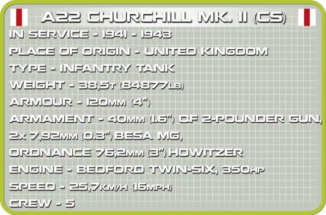 COBI A22 Churchill MK II (CS) 2709 Specs