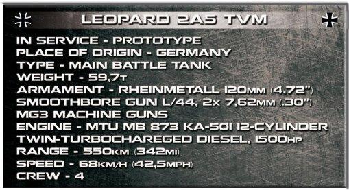 COBI Leopard 2A5 TVM Set (2620) Specs