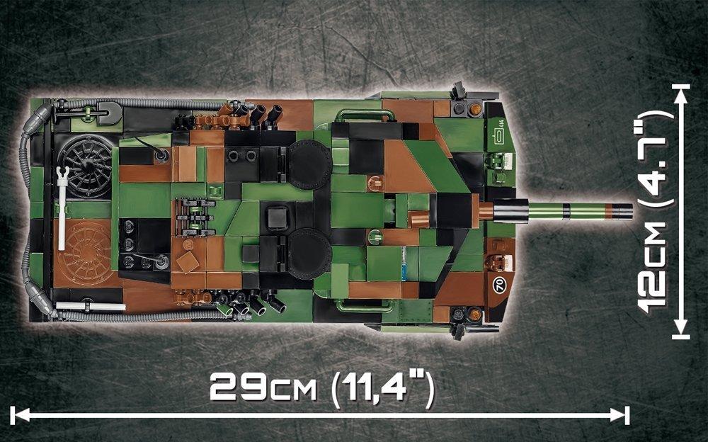 How long is the COBI Leopard 2A5 TVM Set (2620)