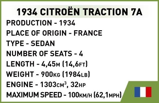 COBI Citroen Traction 7A (2263) specs
