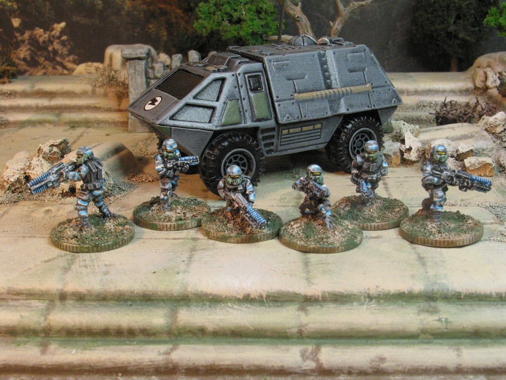 15mm Sci-fi bonanza. GOTA Clan urban forces.