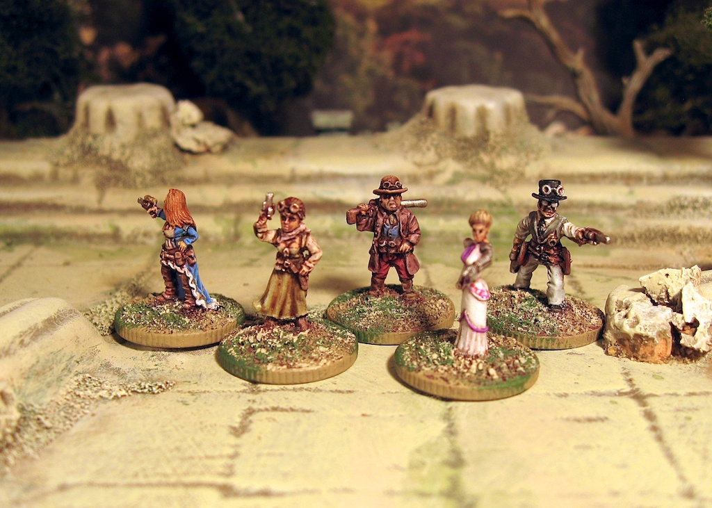 Steampunk in 15mm: Rebel Minis' Pulp Adventurers