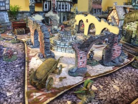 City Town Terrain for Mordheim or Frostgrave fantasy games