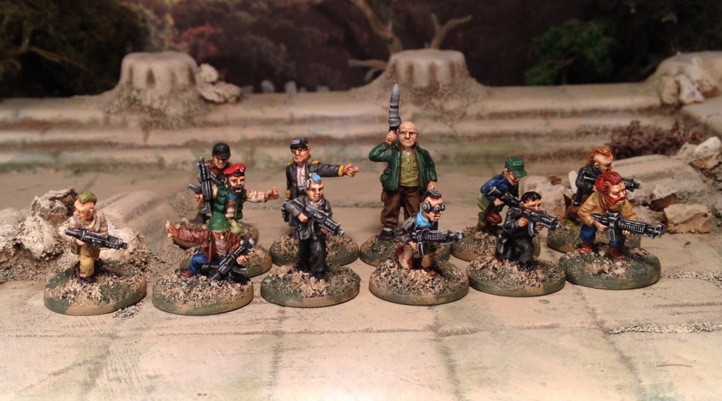 Oddzial Osmy 15mm Insurgents, Rebels or Post Apocalypse/Zombie Survivors