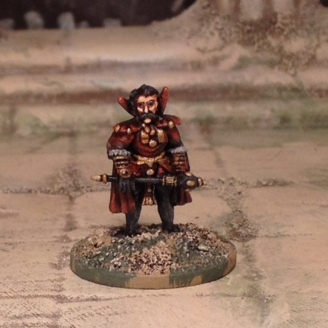 15mm mounted and unmounted vampire lord miniature