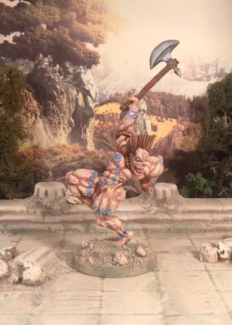 Wargames Foundry SLaine in Spasm beserk mode as Crom Cruach