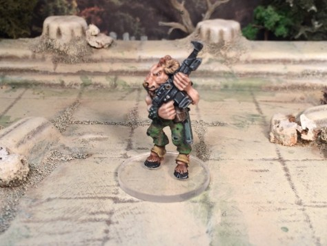 Games Workshop oldie Beastman Imperial Guard Infantryman