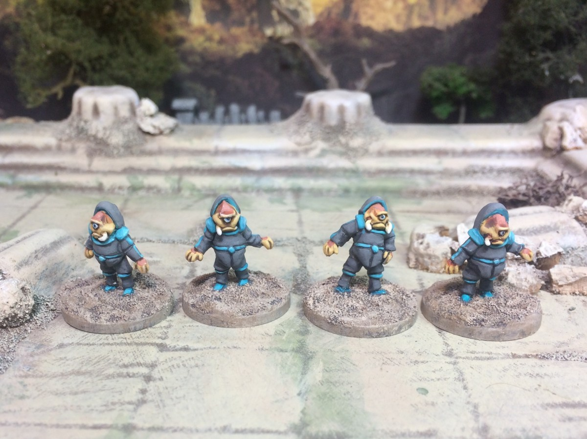 Mini Update: Commission painting of 15mm Alien Away Team