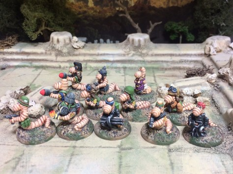 Worms 20mm from MJ Miniatures Sci Fi Fantasy Horror
