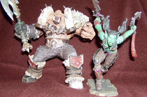 Garrosh and Garona figures