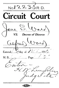 Jane S Ward vs Alfred Ward divorce Shelby Co TN 1915 p5