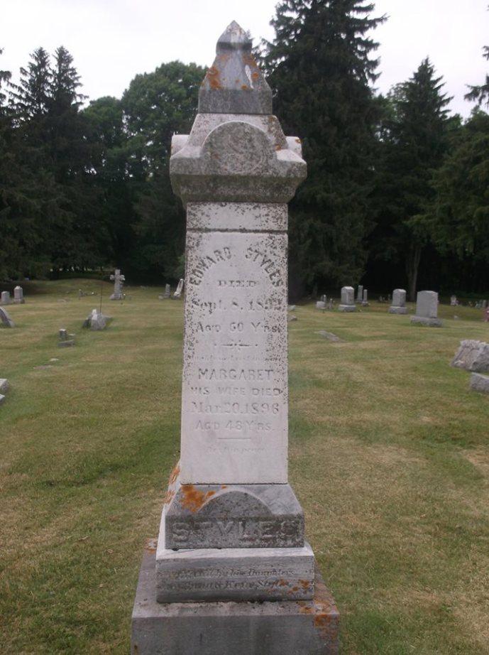 Styles Family monument St Josephs Cemetery Auburn NY, photo courtesy R Staehr
