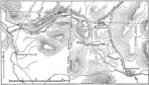 Map of Bennington Battlefield
